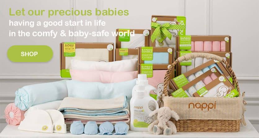 ผ้าอ้อมสาลูใยไผ่ ผ้าอ้อมผ้าสาลู ผลิตภัณฑ์ใยไผ่ ผลิตภัณฑ์เด็ก NAPPI